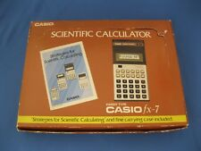 Vintage Casio Fx-7 Scientific Calculator~Handy Type~Pouch~Unused~Nib