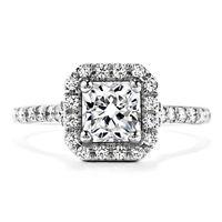 0.65 Ct Princess Diamond Ring 14K Real White Gold Wedding Ring Size M N K L P