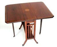 Antique Victorian Inlaid Mahogany Sutherland Table [6270]