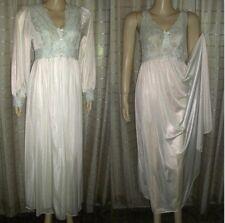 Shadowline Silhouette Ivory Peignoir Robe Nightgown Negligee Set SZ M & L