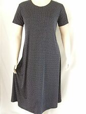 Travel Knit Dress, Long A-Line short sleeve,NEW, stretchy no-iron poly/span #990