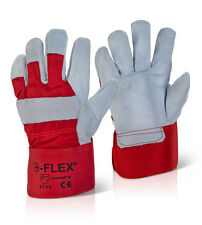 B-FLEX Tough Heavy Duty Work Wear Safety Double Palm Canadian Red Rigger Gloves