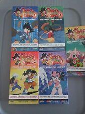 Dragon Ball 1 2 3 4 5 VHS Video Tapes Secrets Emperor's Quest Roshi Yamcha Goku