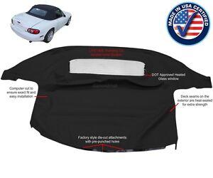MAZDA MIATA Convertible Soft Top & Heated Glass Window Black Cabrio 1990-2005
