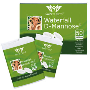 Waterfall D-Mannose Tablets, Powder & with Lemon   Natural Bladder Support : M