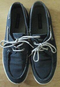 Tommy Hilfiger Tmhilo Mens Canvas Boat Shoes Size 11 Blue