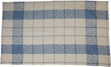 "Handmade Plaid Cotton Jacquard Kitchen Towel Table Linen Grapevine 28"" x 20"""