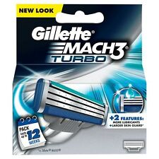 GILLETTE MACH 3 TURBO CARTRIDGES - 4 CARTRIDGES *