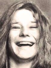 Art Print Poster Painting Portrait Singer Songwriter Janis Joplin Nofl0124