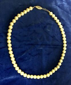 Nikken Magnetic Faux Pearl Necklace Health Therapy