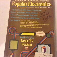 Popular Electronics Magazine Laser TV System November 1974 071917nonrh