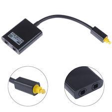 1 input 2 digital optical audio distributor splitter output cable ZT
