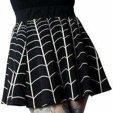 Spiderweb Skirt Womens XL Gothic Goth Spider Horror Black White Skater Circle