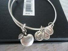 Alex and Ani APPLE OF ABUNDANCE Russian Silver Charm Bangle New W/Tag Card & Box