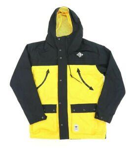 "Adidas Adult Medium 47"" Originals Tokyo Neighborhood Zip Jacket Yellow Black"