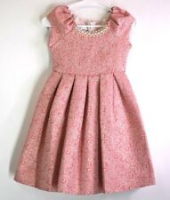 Bonnie Jean Girls' 8 Peals Stones Decorated Shinny Princess Formal Dress Pink