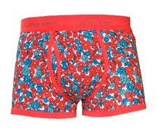 Calvin Klein Para Hombre 365 Ropa Interior Bóxer Florales Rojos Pequeño Nuevos