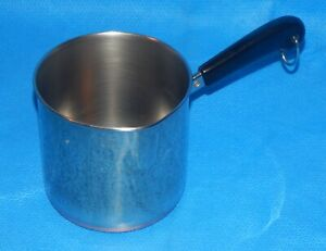 Vintage Revere Ware Copper Bottom, 1 1/2 Qt Measuring, Spouted Saucepan 89f