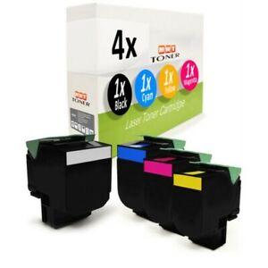 4x Cartouche D'Encre XXL Pour Lexmark CX-410-de CX-410-e CX-310-n