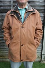 DAVID MOORE CLASSIC MENS QUALITY LUXURY TAN LEATHER JACKET COAT XL 56