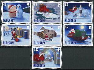 Alderney Christmas Stamps 2020 MNH Santa's Visit Santa Claus Snowman 7v Set