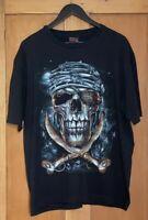 Public Enemy  - Men's T-shirt - Gothic Pirate - Black - Size 2XL - 100% Cotton