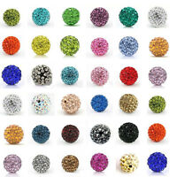 20Pcs Rhinestones Czech Crystal Pave Clay Ball Loose Spacer Beads 6/8/10/12MM