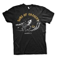 Sons of Anarchy Charming Reaper Gun Official TV series Black Mens T-shirt