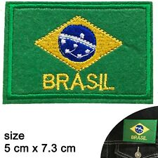 Brazil flag iron on patch Brasil South America Brazilian flags iron-on patches