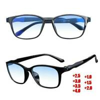 Fashion Reading Glasses Mens Womens Lightweight Large Frame Blue Light Blocking