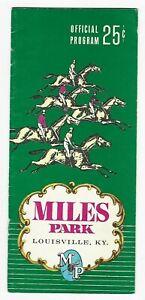 MILES PARK - 1967 HORSE RACING PROGRAM - LOUISVILLE, KENTUCKY