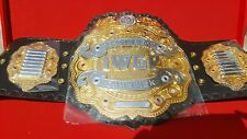 iwgp heavy weight championship belt with wooden case.adult size belt