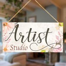 Artist Studio - Beautiful Handmade Art Studio Door Gift Sign For Budding Artist