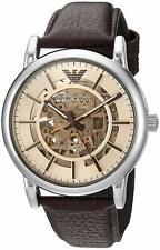 Emporio Armani Automatic Luigi Meccanico Dress Brown Leather Men's Watch AR1982