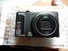 Nikon COOLPIX S9100 12.1 MP Digital Camera - Black PARTS ONLY BROKE !