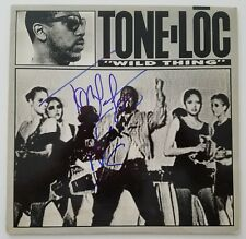 "Tone-Loc Signed Wild Thing 12"" Vinyl Record Single Hip Hop Rap LEGEND RARE"