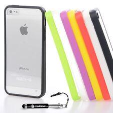 For Apple iPhone SE 5S 5 Case Clear Transparent Hard Case Back Cover Bumper