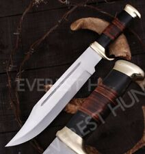 "18"" Everest Hunt Custom Handmade D2 Tool Steel Crocodile Dundee Bowie Knife"