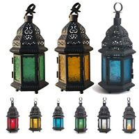 Glass Moroccan Style Glass Lantern Tea Light Candle Holder Wedding Home Decor