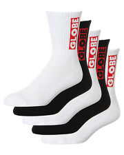 Globe Socks 5 Pack Bar Assorted Crew Size 7-11 Skateboard Sox