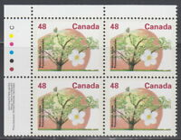 CANADA #1363 48¢ Fruit Trees McIntosh Apple UL Plate Block MNH