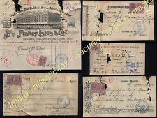 1902-04  BRISBANE Queensland REVENUE lot on old Bills & receipts