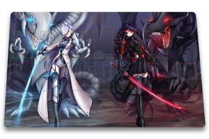 Yu-Gi-Oh Playmat Blue-Eyes White Dragon & Darkness Dragon TCG CCG Play Mat + Bag