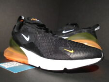 NIKE AIR MAX 270 JUST DO IT 1 BLACK WHITE TOTAL ORANGE ATMOS AH8050-014 NEW 10.5