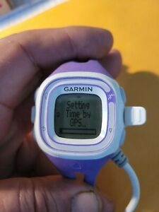 Garmin Forerunner 10 GPS Running Watch Purple W/ Charging Cable Excellent