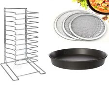 More details for stainless steel pizza pan rack 11 slot shelf stacking size12x12