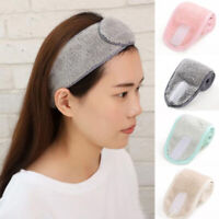 Women Facial Hairband Makeup Head Band Toweling Hair Wrap Salon SPA  Shower Caps