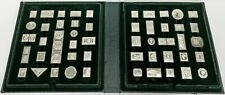 Vintage Franklin Mint Collectors Box of 50 Stamps in Sterling Silver (600 Grams)