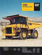 1998 Caterpillar 769D Off-Highway Truck 23 Page Brochure