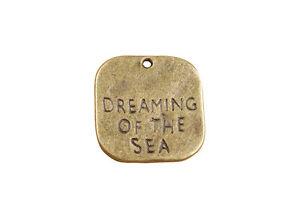 30PCS Antiqued Bronze DREAMING OF THE SEA Charm Pendants